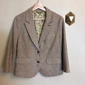 Ett Twa Anthropologie Tweed Blazer Professoressa
